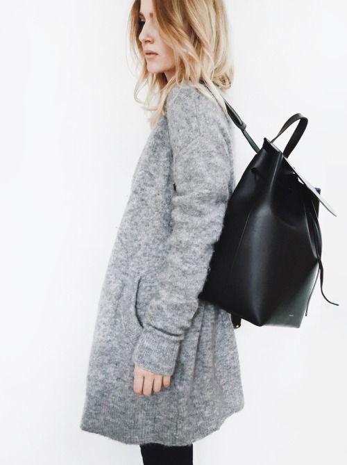 Backpack Trend:Mirjam Flatau is wearing a black backpack, the...