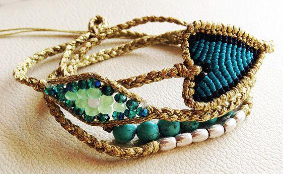 4 wrap braid necklace / bracelet Handmade by Kitty by Ammos