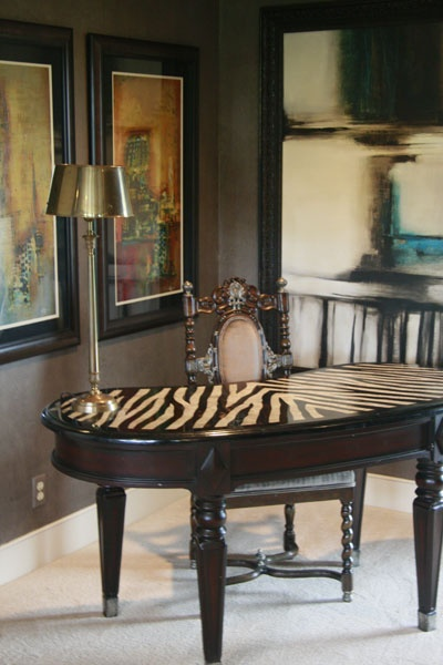 Love The Zebra Print Desk Top Interior Design For Home