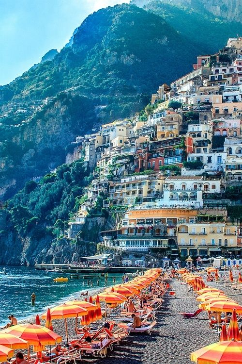 Positano is a beautiful village in Campania, Italy.