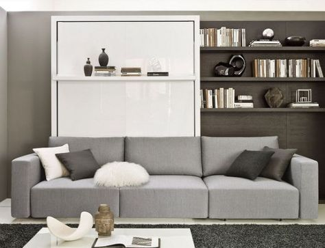 Transformable Murphy Bed Over Sofa