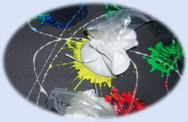 Firework splatts - mark making activity for November 5th - bonfire night - Guy Fawkes