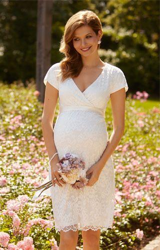 Bridget Maternity Lace Dress Ivory by Tiffany Rose