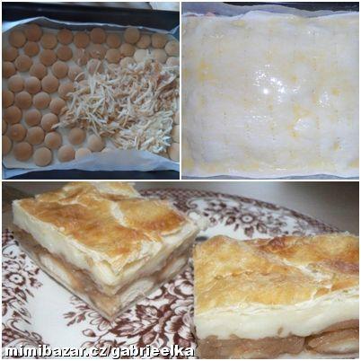 Jablkový koláč s pudinkem v listovém těstě