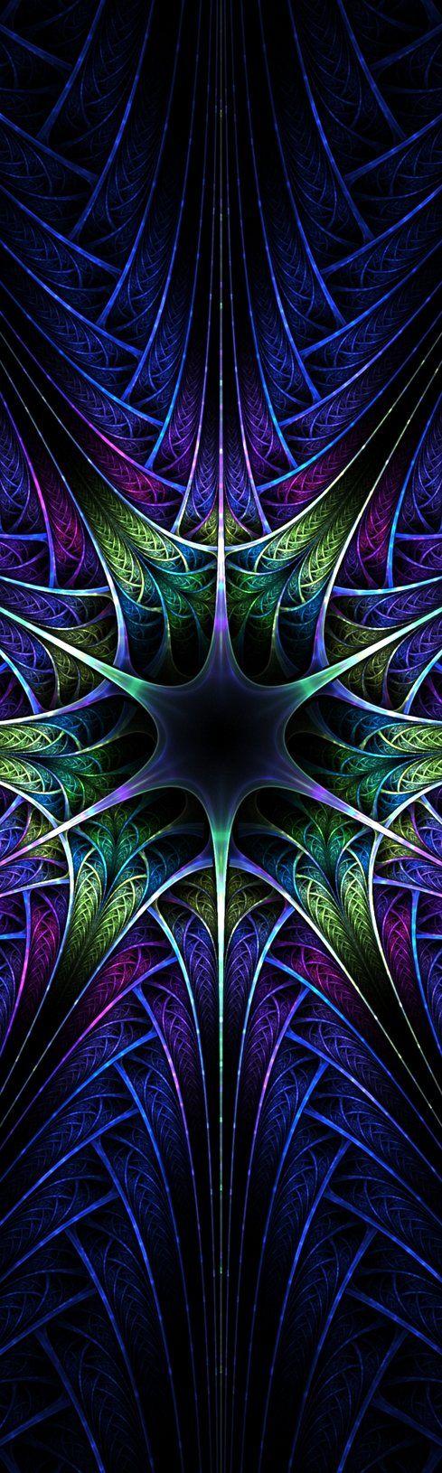 """""""Blue Spires"""" - fractal art by jadenkanan, via deviantART"""