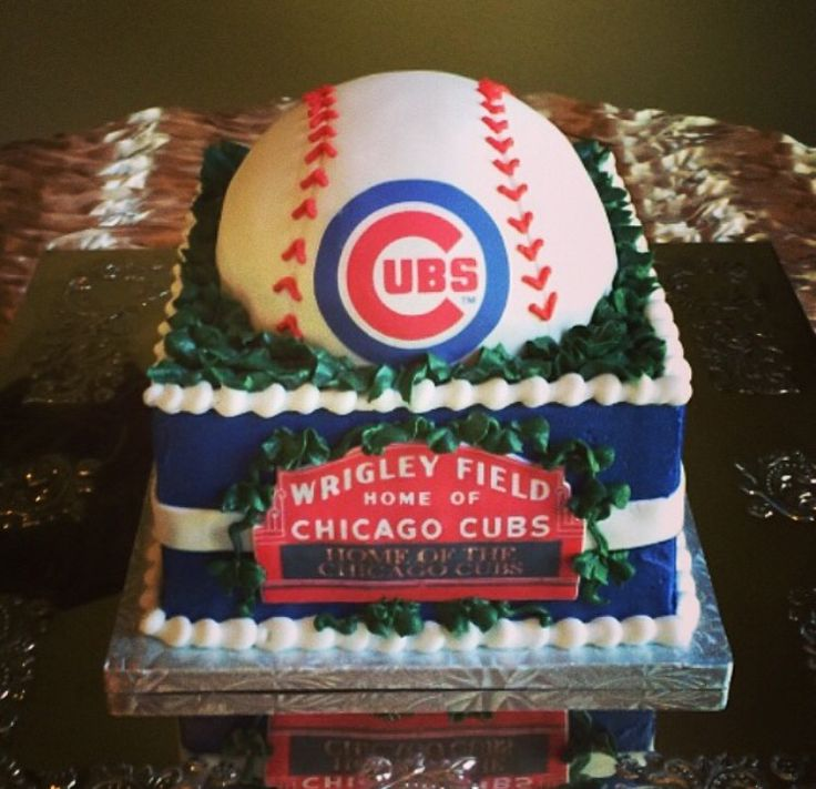 Grooms cake by Icing on the Top, one of our package vendors. Chicago Cubs, Wrigley Field