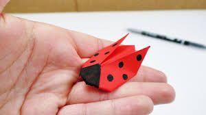 Marienkäfer als Origami