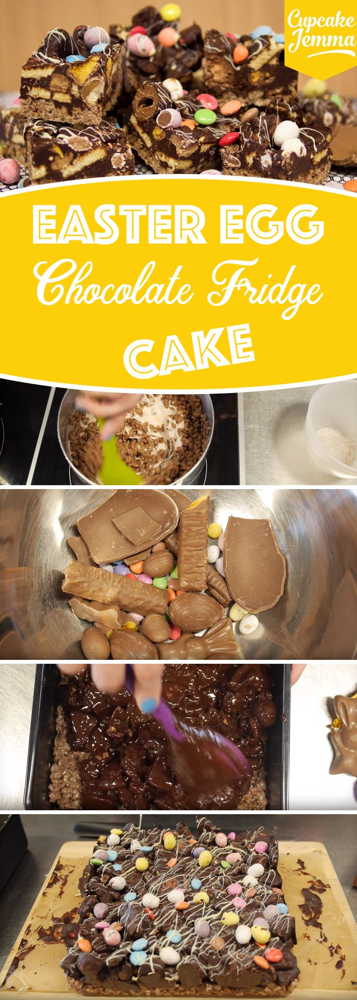 Give an All New Purpose to Festive Eggs with this Toothsome Easter Egg Chocolate Fridge Cake! (video recipe)