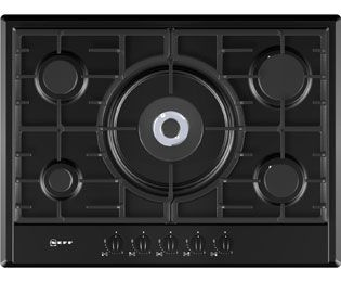 5 Burner Gas Hobs in Black ao.com