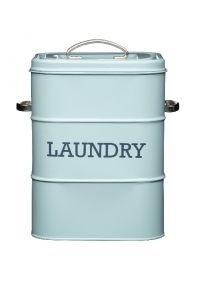 Vintage Blue Laundry Tin