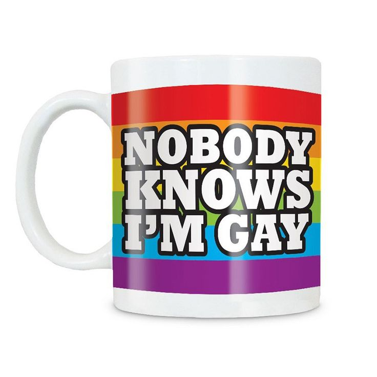 Fizz Creations Mug - Nobody Knows I'm Gay Mug - The FIZZMugs Range offers you a selection of funny 10oz mugs, making it the ideal gift for any occasion including Birthdays, Secret Santa and many others.
