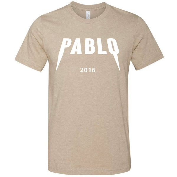 Yeezus Pablo T-shirt, Yeezy Season, Pablo Tee, kanye t-shirt ❤ liked on Polyvore featuring tops, t-shirts, shirts, shirt top, t shirt and tee-shirt