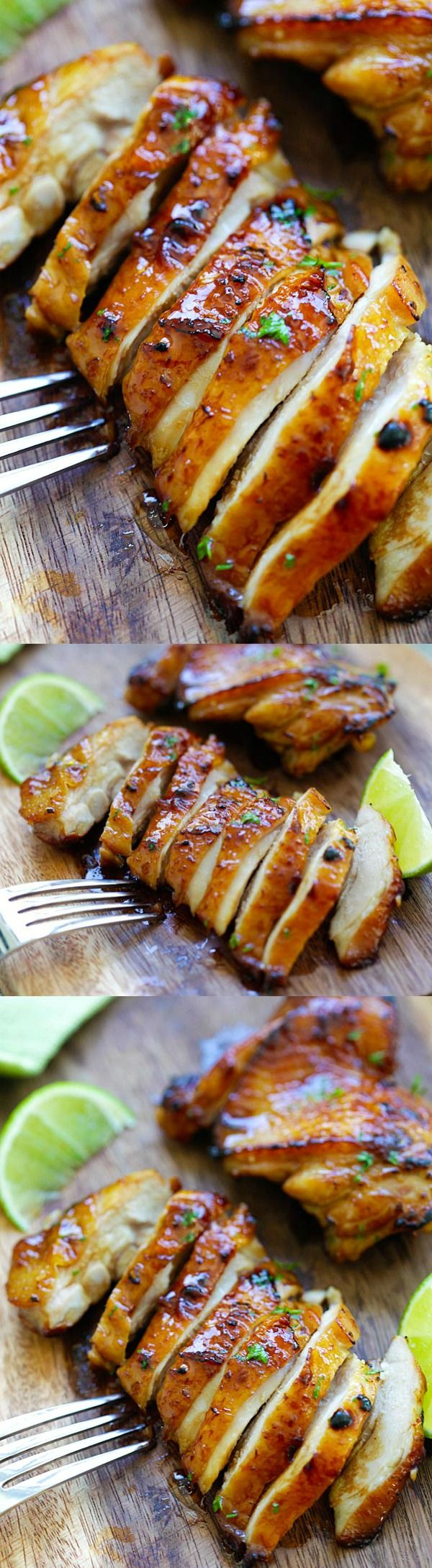 Honey Lime Chicken – crazy delicious chicken with honey for your family, takes only 20 mins #com312D