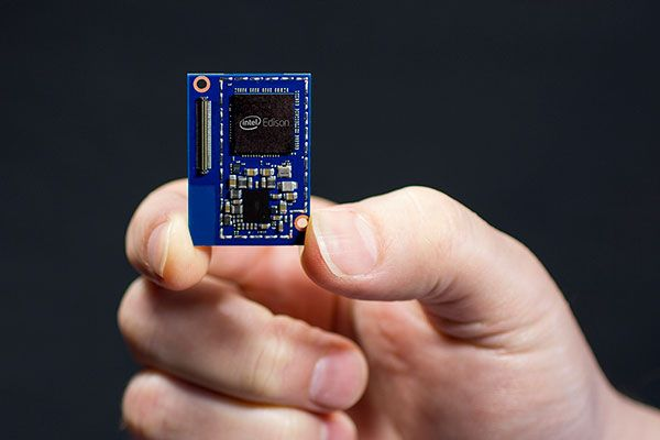 Basically a wearable raspberry pi by Intel