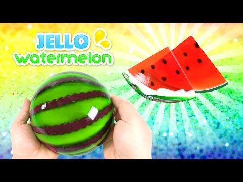 How to Make a Jello Watermelon !! GUMMY JELLO WATERMELON SLICES - YouTube