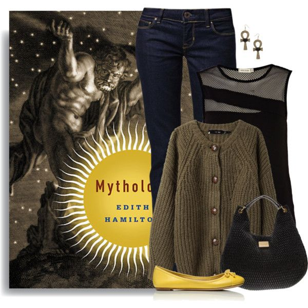 """Mythology by Edith Hamilton"" by ameve on Polyvore"