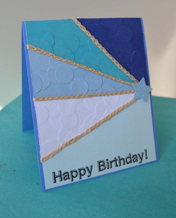 Rays of Blueshine Card, blank Happy Birthday card by MilestonesandPebbles, $5.09