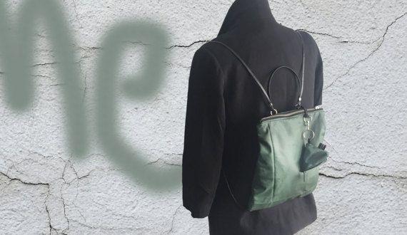 Kleiner Rucksack ONE Greenery von isoncasBags auf Etsy