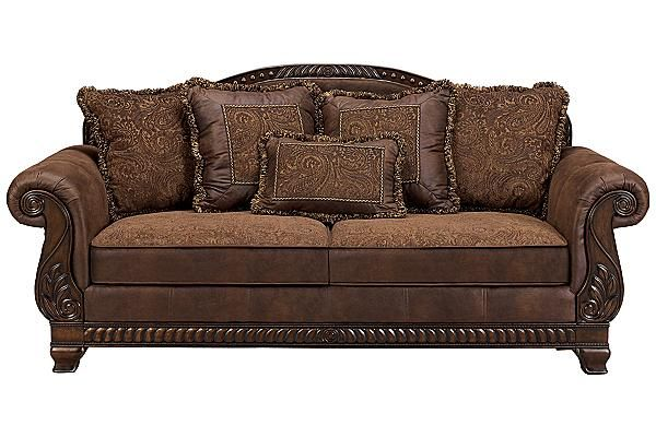 """BOUGHT 2 OF THESE SOFAS....LOVE, LOVE,LOVE THEM !!!!! The Bradington Sofa from Ashley Furniture HomeStore (AFHS.com). The rich elegant design of the """"Bradington-Truffle"""" upholstery collection brings together beautiful upholstery and exquisite details to create the ultimate in traditional styled furniture."""