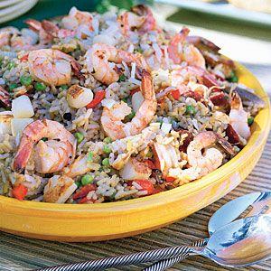 26 Delicious Scallops Recipes   Paella Cubana   CoastalLiving.com