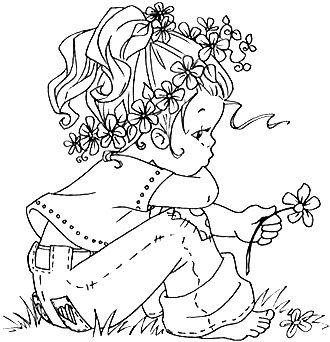 Daisy Sitting in Lily Garden
