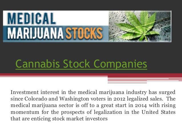 Cannabis stock companies by MarijuanaStock via slideshare