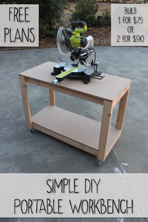 Workbench Plans Easy DIY Portable Workbench Plans | Rogue Engineer