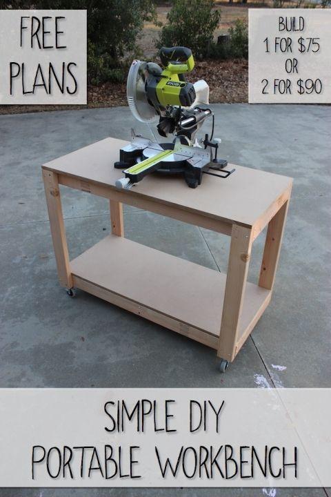Easy DIY Portable Workbench Plans | Rogue Engineer