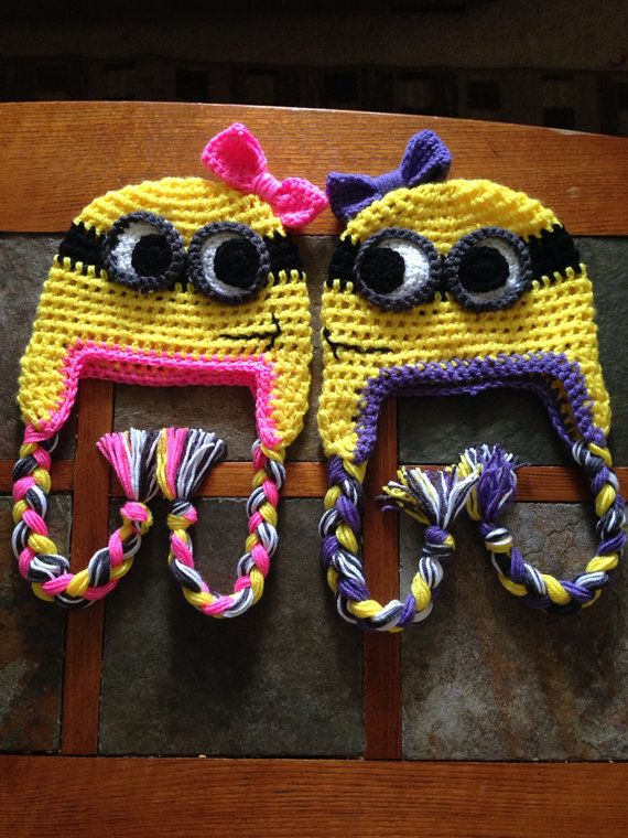 Crochet girls minion hat on Etsy, $20.00