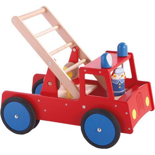 Lauflernwagen Holz Feuerwehr ~ lauflernwagen lauflernwagen mit puppenwagen holz mit bremse spielzeug