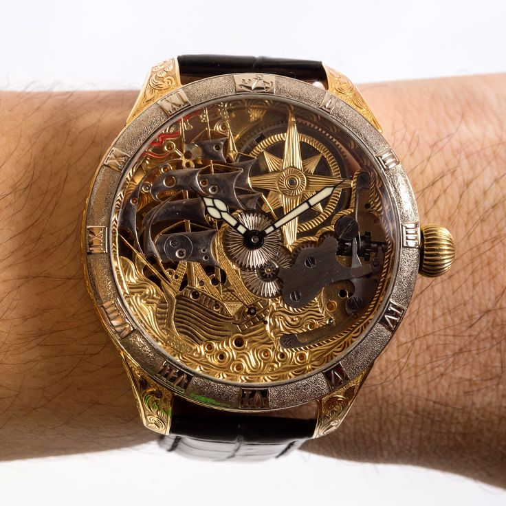 Original Ulysse Nardin pocket watch mechanism which is over 100 years old was converted into a wrist watch.