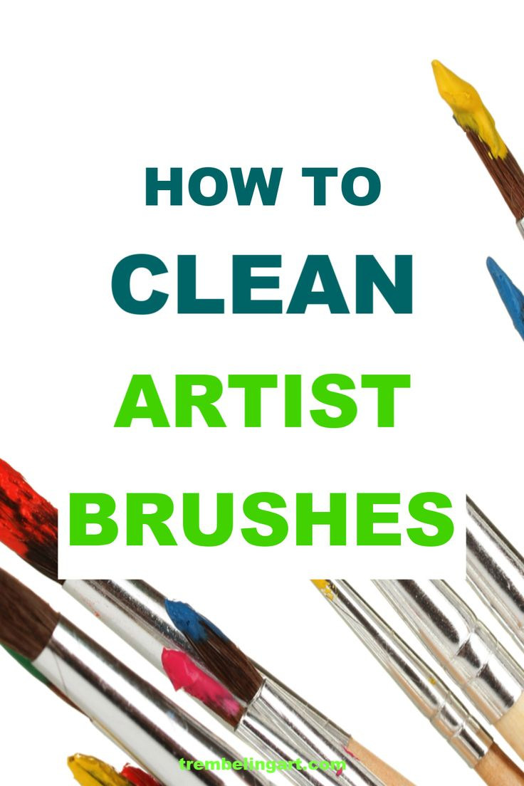 How to clean your artist brushes to make them last with