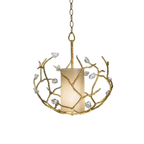 Porta Romana - MCL18S, Blossom Chandelier, Small - White Gold with Glass detail