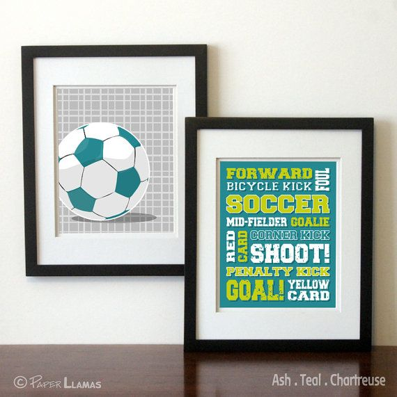 Superb Soccer Wall Art Soccer Decor . Boys Sports Art By PaperLlamas, $27.00