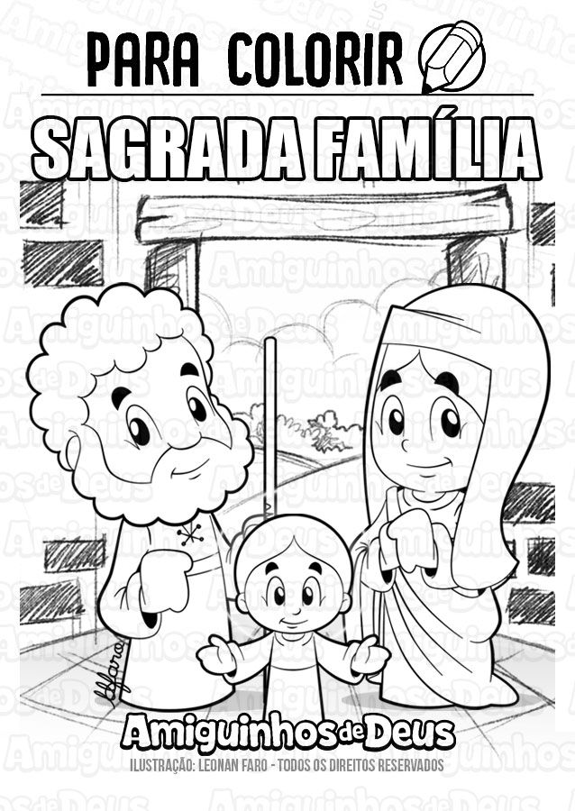 Sagrada Familia Desenho Para Colorir Colorir Desenhos Biblicos