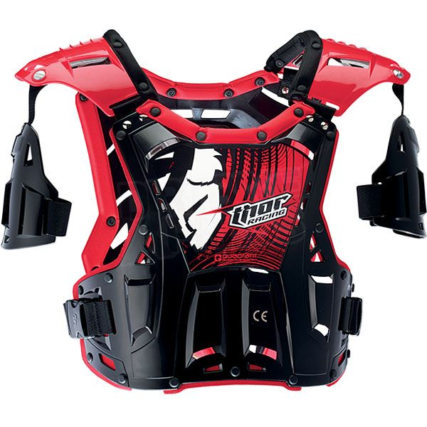 Thor Kids Quadrant Body Armour - Black Red