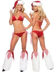 Tie Up Santa Bikini Set