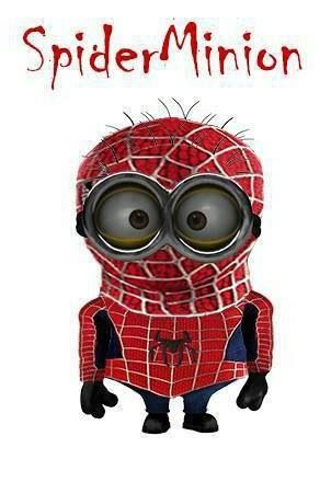 Spider Minion. See my Despicable Me Minions pins https://www.pinterest.com/search/my_pins/?q=minions