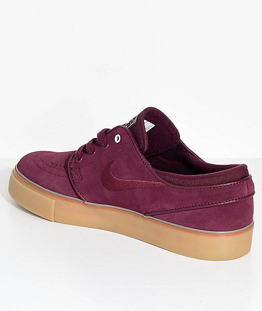 Nike SB Janoski Night Maroon   Gum Suede Skate Shoes  b189f3368f