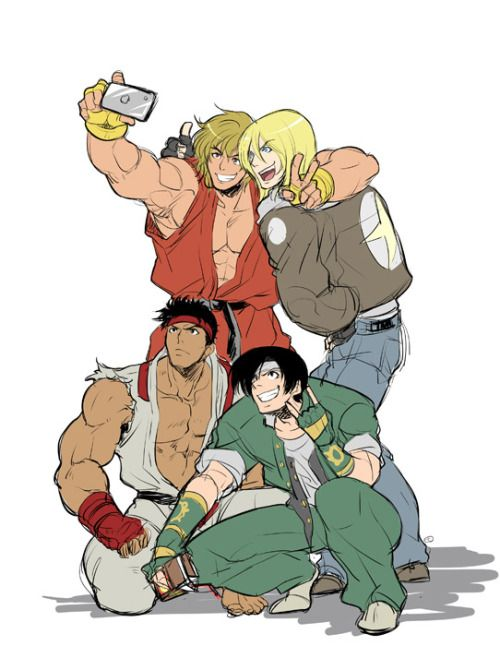 snk vs capcom/ ryu ken masters street fighter/ king of fighters kyo terry bogard