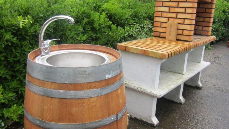 Ideas para reciclar un barril - Fregadero