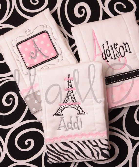 Monogrammed Personalized Embroidered Baby Burp Cloth