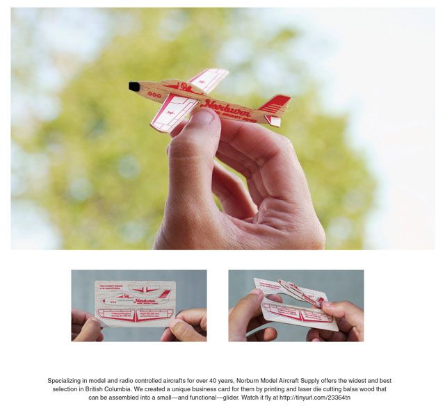 Business card turns into a plane