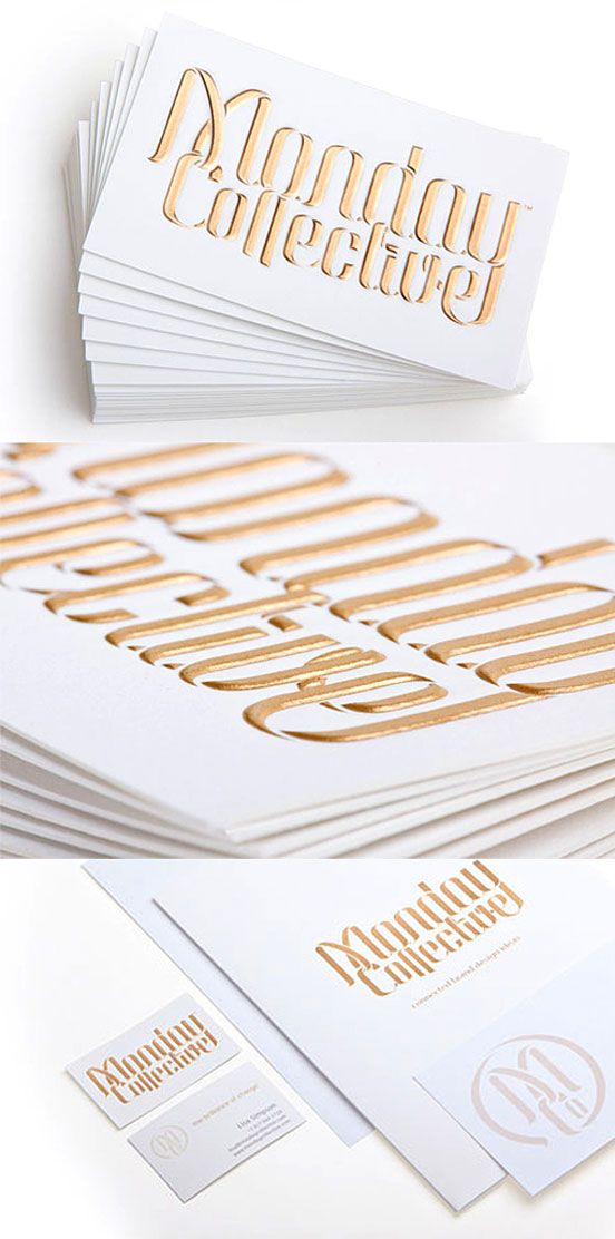 Hand Rendered Typography Business Cards