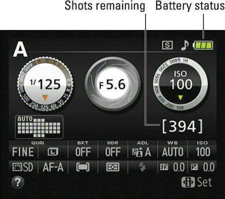 Picture settings on your Nikon D5200. Courtesy of For Dummies