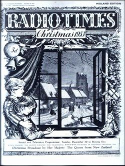CHRISTMAS RADIO TIMES COVERS 1936-1968
