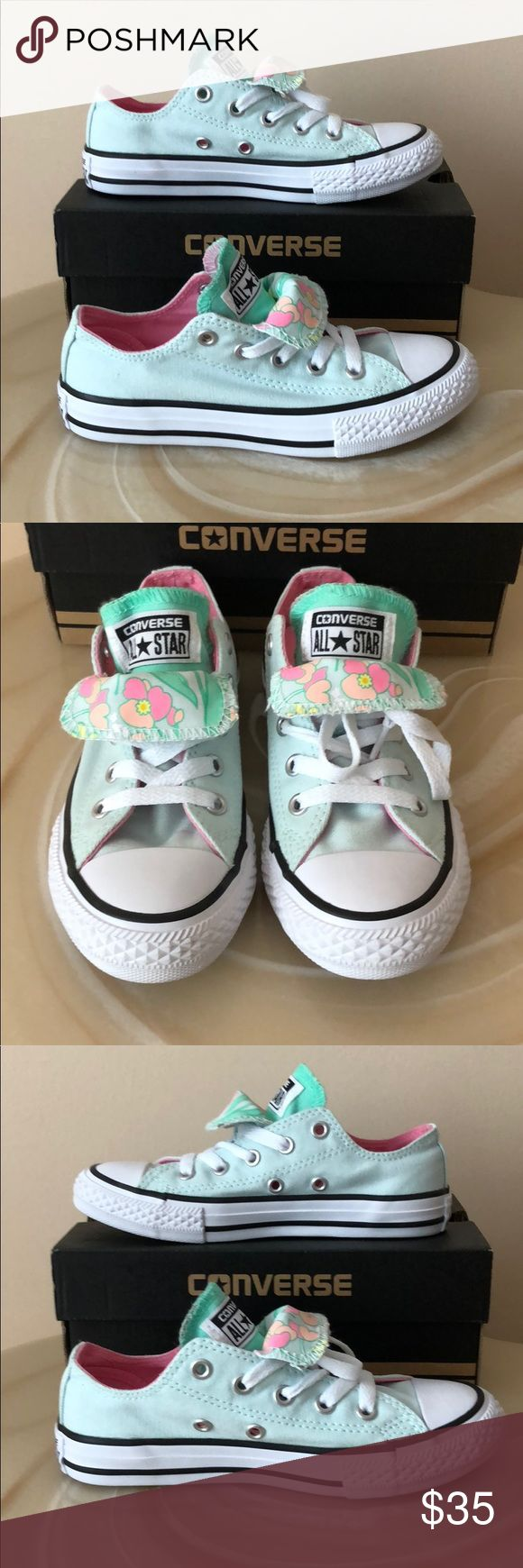 NIB Girl's  CONVERSE Double Tongue Shoes  👟 Never worn Converse Shoes Sneakers