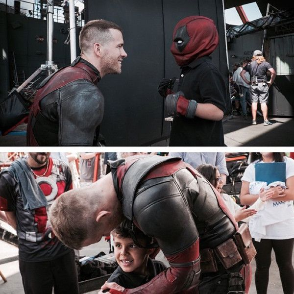 Ryan Reynolds Fulfills Wish of Boy Battling Cancer Who Wanted to Meet Deadpool—See the Sweet Photos  Ryan Reynolds