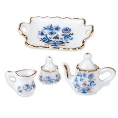 4-Pc. Blue Onion Tea Service Set by Reutter Porzellan