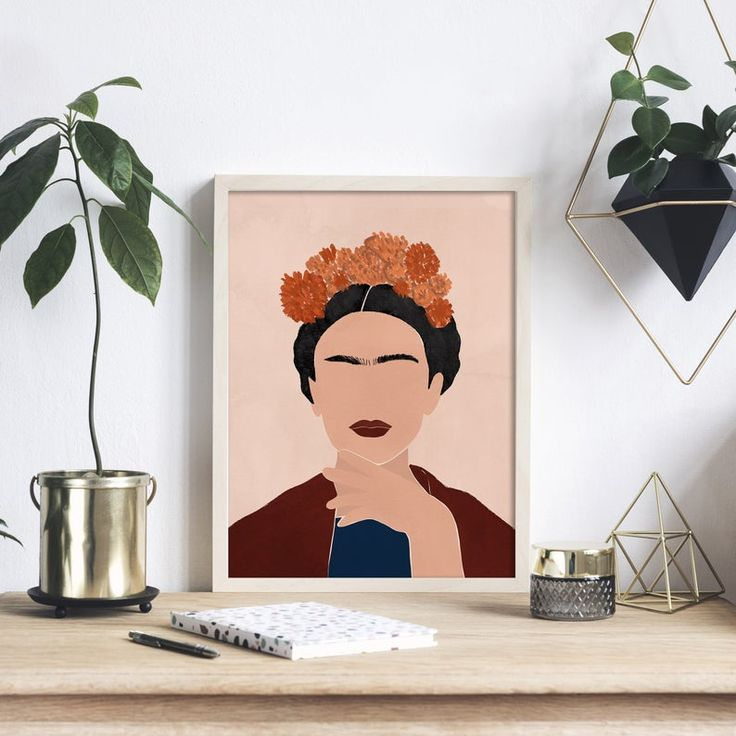 Kahlo Paintings, Frida Art, Posca Art, Abstract Wall Art, Diy Art, Digital Illustration, Printable Art, Art Drawings, Canvas Art